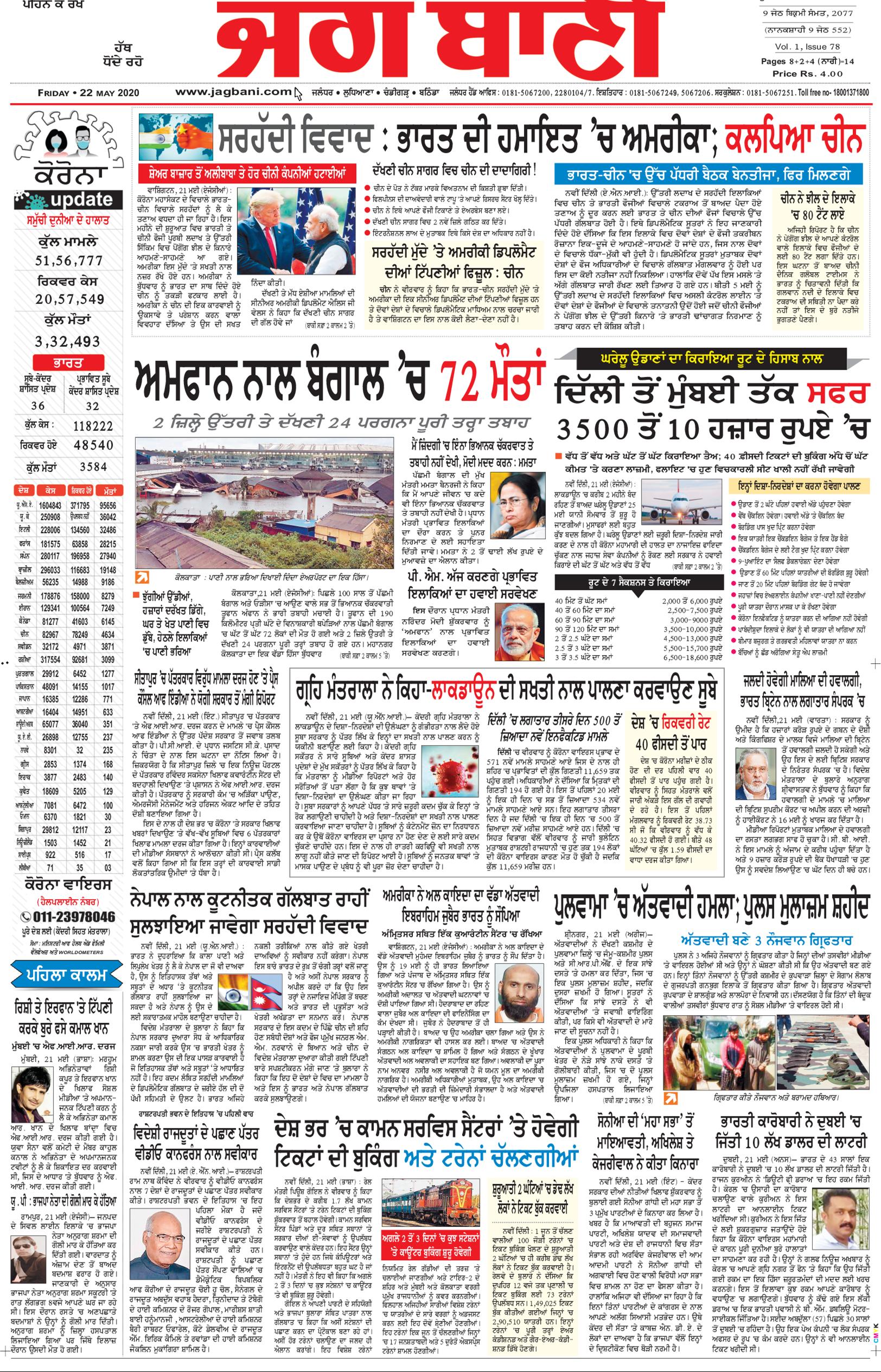 Chandigarh Main 5/22/2020 12:00:00 AM