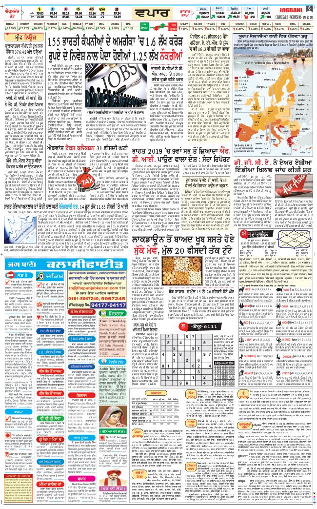 Chandigarh Main 2020-06-17