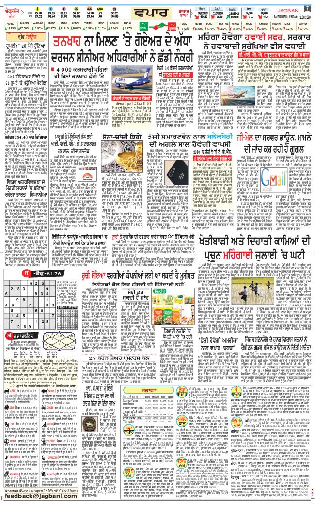 Amritsar Main 2020-08-21