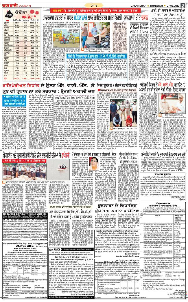 Amritsar Main 2020-08-27