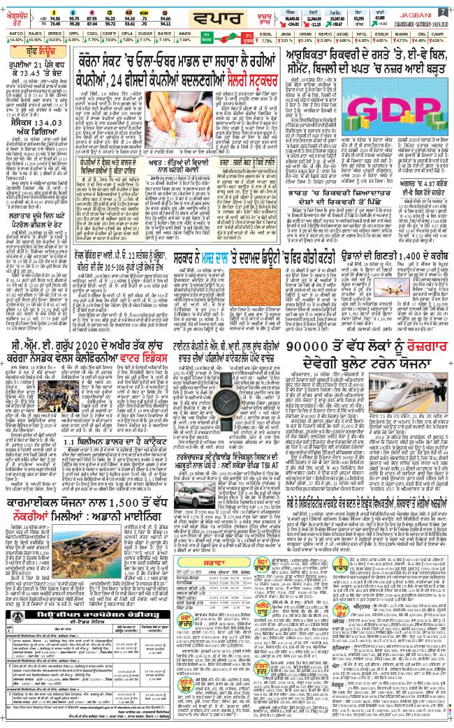 Chandigarh Main 2020-09-19