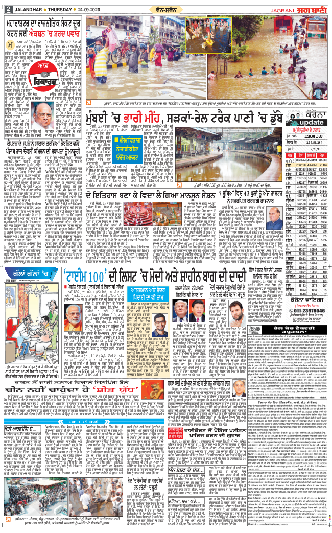 Jalandhar Main 2020-09-24