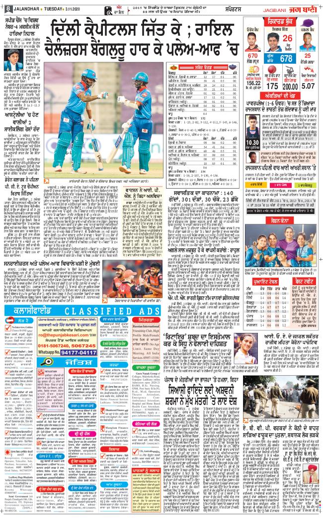 Amritsar Main 2020-11-03