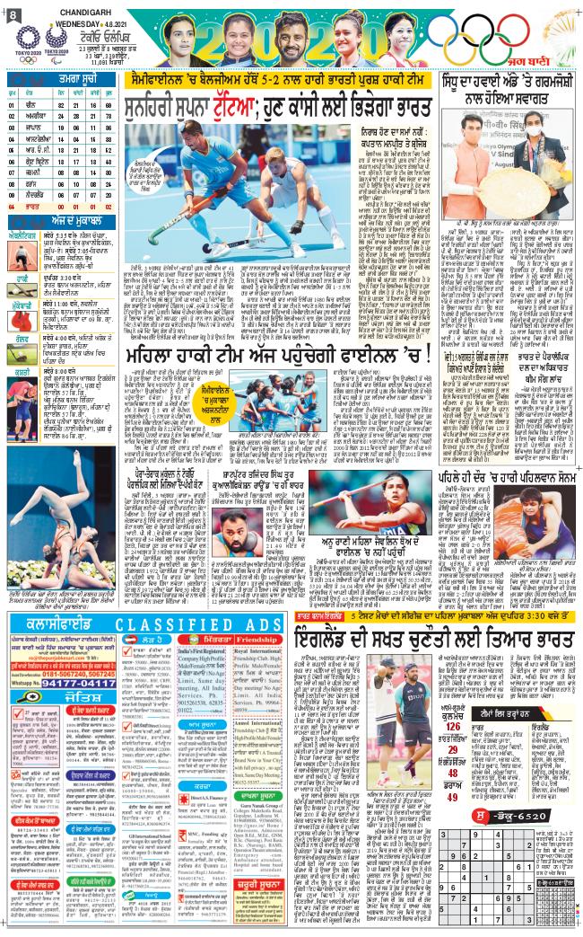 Chandigarh Main 2021-08-04