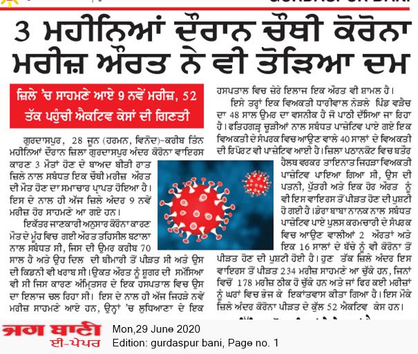 Gurdaspur Bani 6/29/2020 12:00:00 AM