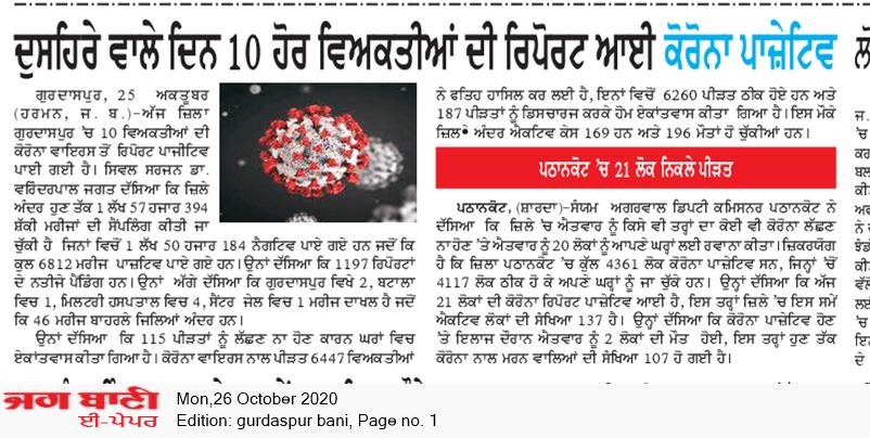 Gurdaspur Bani 10/26/2020 12:00:00 AM