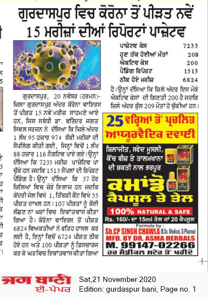 Gurdaspur Bani 11/21/2020 12:00:00 AM
