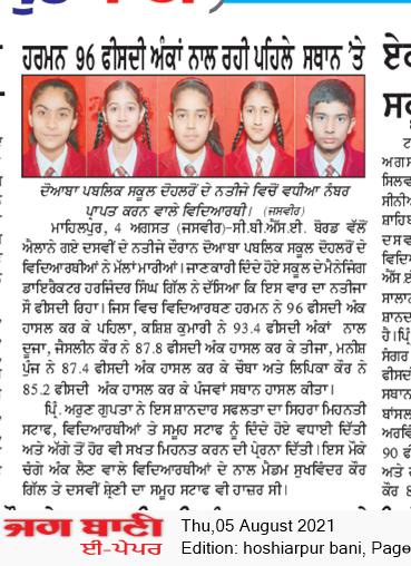 Hoshiarpur Bani 8/5/2021 12:00:00 AM