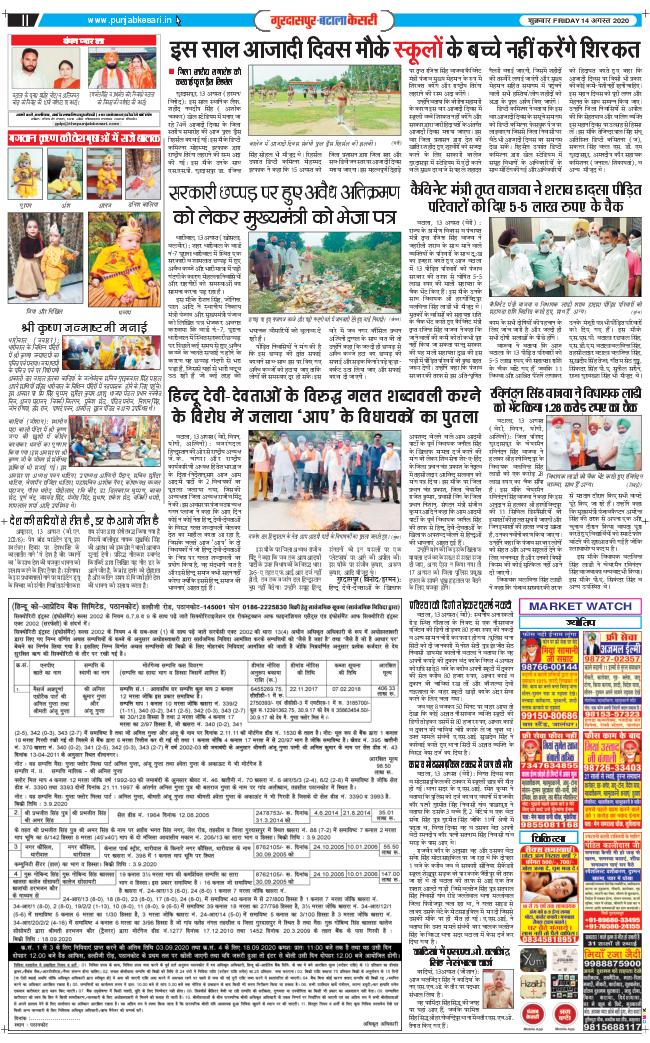 Gurdaspur Kesari 2020-08-14
